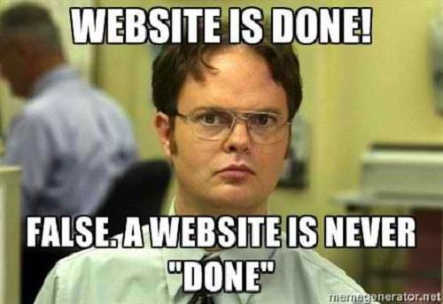 website-never-done